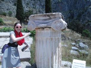 Delphi, Greece, Ionic Column